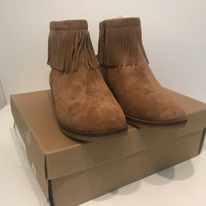 Lucky Brand Suede Bootie.  Size 8